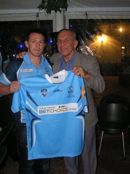 No 5, Winger Michael Fortier is presented with his playing jumper.