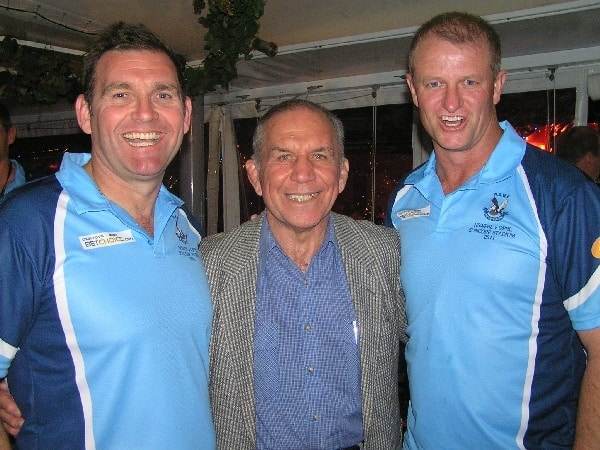 NSWPRL coach, Craig Sheridan and trainer Bob O'Riordon with special guest John Sattler.