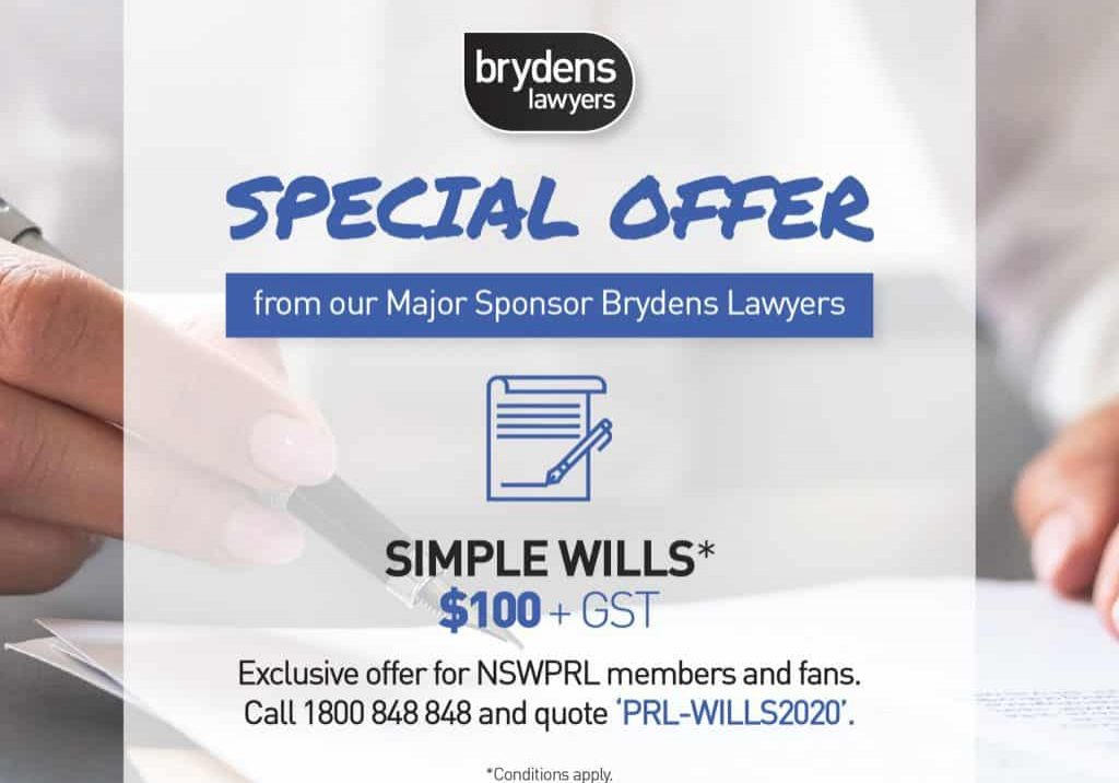 Simple Wills Offer-NSWPRL